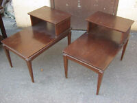 Pair of Auburn Wooden End / Side Tables