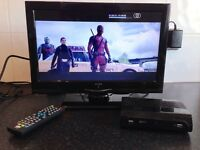 ALBA 16 inch HD TV / Monitor -HDMI, PC input, USB slot + Freeview HD box!