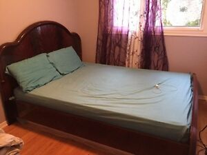 Queen size mattress + headboard