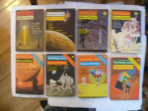 pile of 8 vintage Magazine Of Fantasy And Science Fiction mags