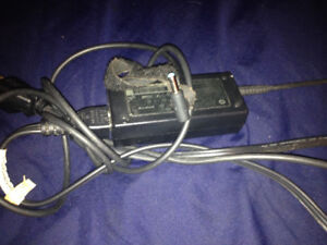 HP laptop charger.Thin one with blue end.