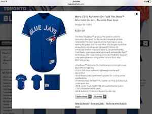 Brand new authentic Blue Jays jersey men's large Kingston Kingston Area image 3