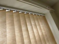 Vertical Blind, beige, 178cm wide, 120cm drop, excellent condition