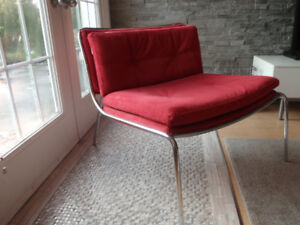 Pair of Modern Armless Chairs