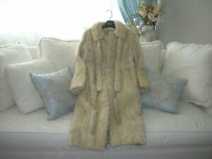 Elegant Pearl Full Length Mink Fur Coat