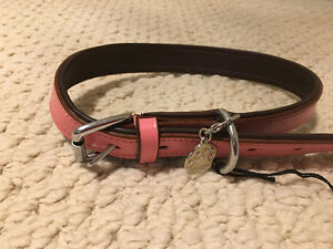 Dog Collar Pink Leather Brand New With Tag