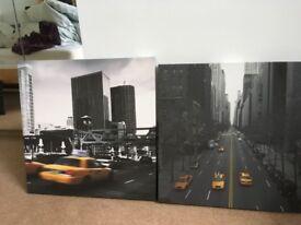 New York canvas prints x2