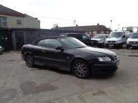 SAAB 9-3 1.9TiD (150bhp) LINEAR | CONVERTIBLE | BLACK | 2007 MODEL