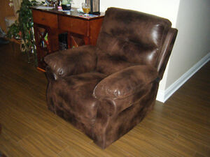 Fauteuil inclinable lazy boy cuir