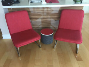 2 New Occasional Chairs - Fuchsia Colour