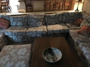 3 Section Couch U Shape W/ Coffee Table