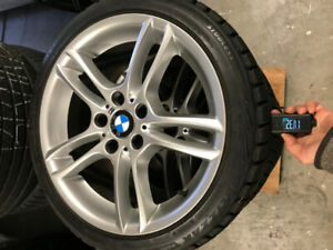 Bmw OEM rims winter tires 18""
