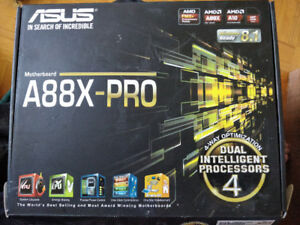 Asus a88x-pro FM2 motherboard with AMD A6-5400