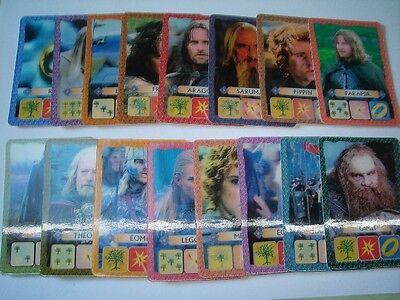 KELLOGG'S LORD OF THE RINGS 2 16 3D HOLOGRAM TRADING CARDS SET LOTR COLLECTIBLES