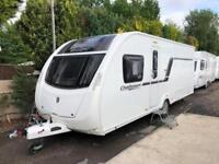 Swift Challenger Sport 584 4 Berth Caravan FIXED ISLAND BED, AWNING, VGC Bargain