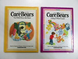 2 Care Bears Books Vintage 1980s Hardcover Very Good Condition
