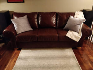 100% Cow Hide LEATHER SOFA by Campio Furniture.