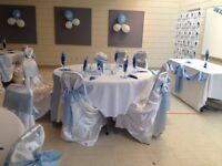 Chair covers runners and napkins for rent