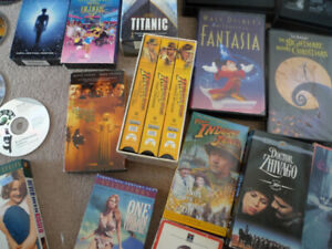 Lot of DVDs/VHS Have a Variety Star Wars, Indiana Jones etc