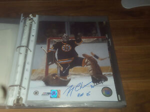 Gerry Cheevers Boston Autographed Stiched Goalie Mask 8x10