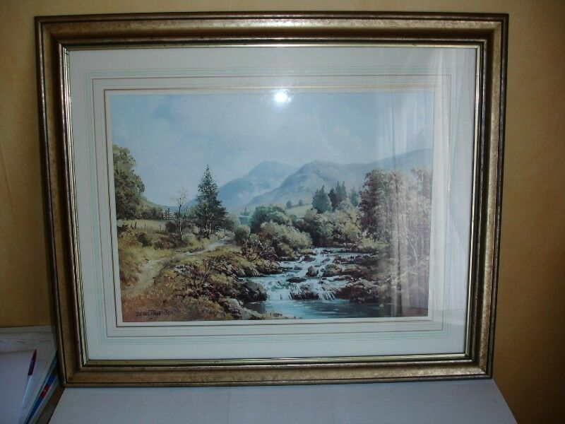 "Beautiful Framed Print of the ""Trassey"" River, The Mournes by Denis Thornton."