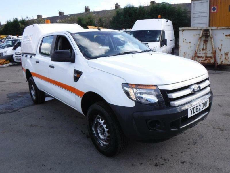 FORD RANGER XL 4X4 DCB TDCI, White, Manual, Diesel, 2012