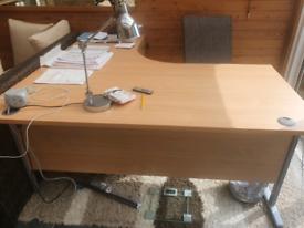 Light oak desk
