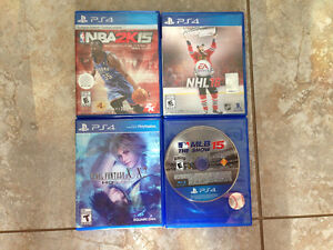 PS4 VIDEO GAMES 4 OF THEM