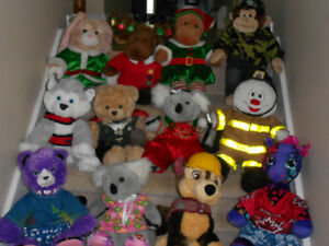 12-Assorted Build-A-Bears C/W Clothes  -  NEW PRICE