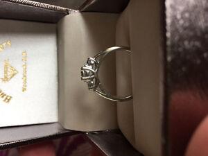 14k white gold .5k engagement ring