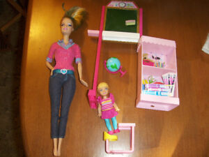 Teacher Barbie and accessories