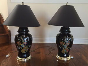 """Porcelain Table Lamps 30"""" High (Set of 2)"""