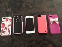 Telus iPhone 5 32gb with external rechargeable battery pack case