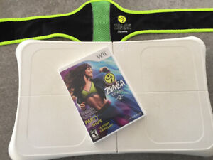 planche Wii fit et jeu zumba fitness 2