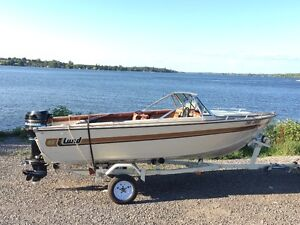 Lund Bowrider with 80 hp Mercury and trailer