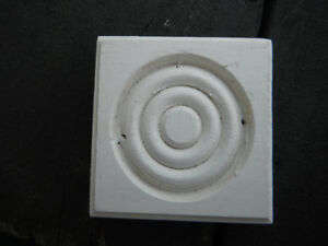 "White Window / Door Decorative Trim Blocks 2 3/4"" X 2 3/4"" X 3/4"