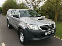 2015 15 TOYOTA HILUX 2.5D-4WD EURO 5 TRUCKMAN TOP 1 COMPANY OWNER 22,000 MILES