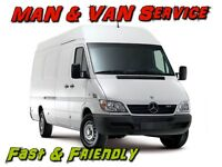 MAN & VAN --- Any Delivery, Collection, Removals and Housing Clearances