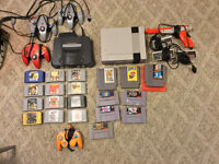 large assortment of old gen games and systems