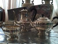 BIRKS antique Sterling silver coffee tea set NO PAYPAL