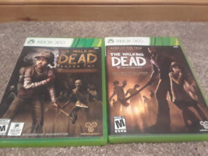 XBox 360 games: Walking Dead and Walking Dead 2
