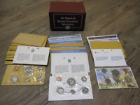 25 Years of Canada Mint Sets 1962 to 1986. Coin Collection