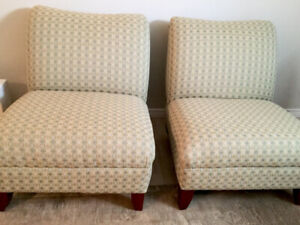 4 Large Modern Armless Chairs