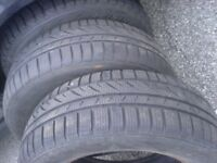 Selling two good tires 195 65 15 good for at least one season!