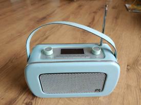 DAB digital retro radio vintage style turquoise