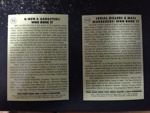 True Crime Series 1 and 2 collectible cards (Eclipse)