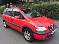 Vauxhall Zafira 1.8 Mpv 7 seater 2002