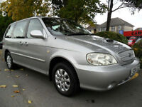 KIA SEDONA 2.9 CRDi DIESEL AUTO 7 SEATER COMPLETE WITH M.O.T HPI CLEAR