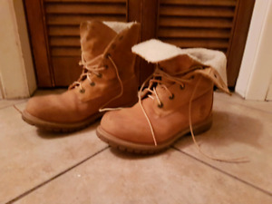Timberland Women's Authentics Fold Down Leather Boots