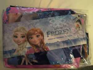 3 piece FROZEN twin bed sheets
